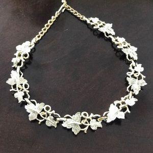 Vintage Silver Vine Necklace